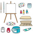 set of painting accessories vector image vector image