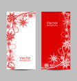 set vertical banners with winter pattern vector image