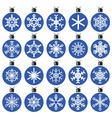 snowflakes and Christmas decorations vector image vector image