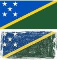 Solomon Islands grunge flag vector image vector image