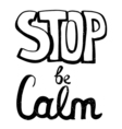 Stop be calm motivation phrase vector image vector image