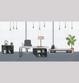 stylish workplace with laptop modern office vector image vector image