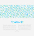 technologies concept with thin line icons vector image vector image