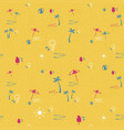 tropical beach summer seamless pattern background vector image vector image