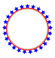 usa flag round frame vector image