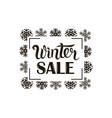 winter sale image vector image