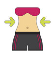 icon in flat design woman body diet vector image
