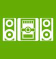 music center icon green vector image