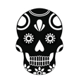 Mexican skull icon simple style vector image