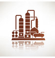 petrochemical plant symbol refinery oil vector image