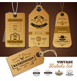 shops vintage labels set vector image