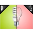 energy saving light bulb in infographic vector image