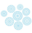abstract snowflakes background of snow Christmas vector image vector image