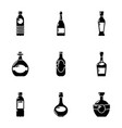 alcohol dependence icons set simple style vector image