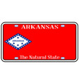 arkansas state license plate vector image vector image
