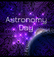 astronomy day night sky with bright stars huge vector image vector image