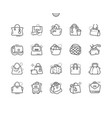 bags well-crafted pixel perfect thin line vector image