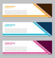 banner design for business vector image
