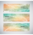 Banners with abstract colorful geometric lined vector image