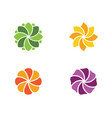 beauty icon flowers vector image vector image