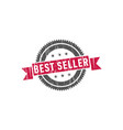best seller stamp sign seal vector image