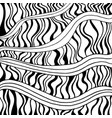 black and white abstract decorative ornament with vector image vector image
