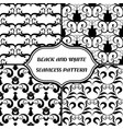 black-and-white abstract pattern oriental style vector image vector image