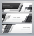 black business banners design in geometric style vector image vector image