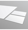 Blank stationery layout A4 paper business card vector image vector image