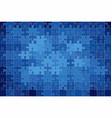 blue grunge puzzle background vector image