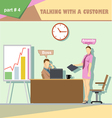 Business company roles situation infographics with vector image vector image