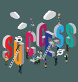 business success mark isometric vector image vector image