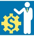 Businessman Options Flat Icon vector image