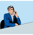 Businessman speaking by phone vector image vector image