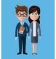 Cartoon man woman coworkers corporate vector image