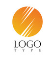 circle stripe logo vector image vector image