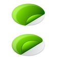 Collection ellipse sticker vector image vector image