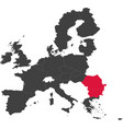 colored map of the european union 2007 vector image