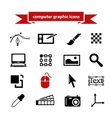 computer graphic icons vector image