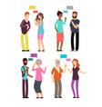 conversation between people different age vector image vector image