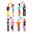 conversation between people of different age vector image vector image