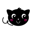 Cute beautiful Black Cat isolated on white vector image vector image