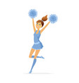 dancing cheerleader - modern cartoon people vector image