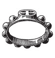 decad ring having knobs vintage engraving vector image vector image