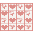 deer and heart set vector image vector image