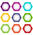 diagram pie chart with arrows icon set color vector image vector image