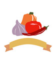 drawing vegetables vector image vector image