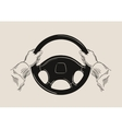 driver holding car steering wheel graphic vector image vector image
