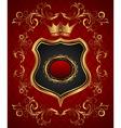 elegant gold heraldry frame vector image