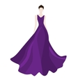 Fashionl brunette woman in stylish evening dress vector image vector image